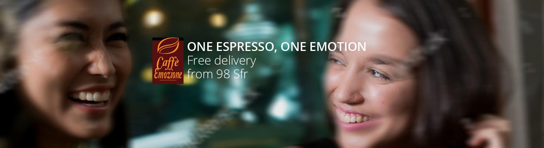 ONE ESPRESSO, ONE EMOTION